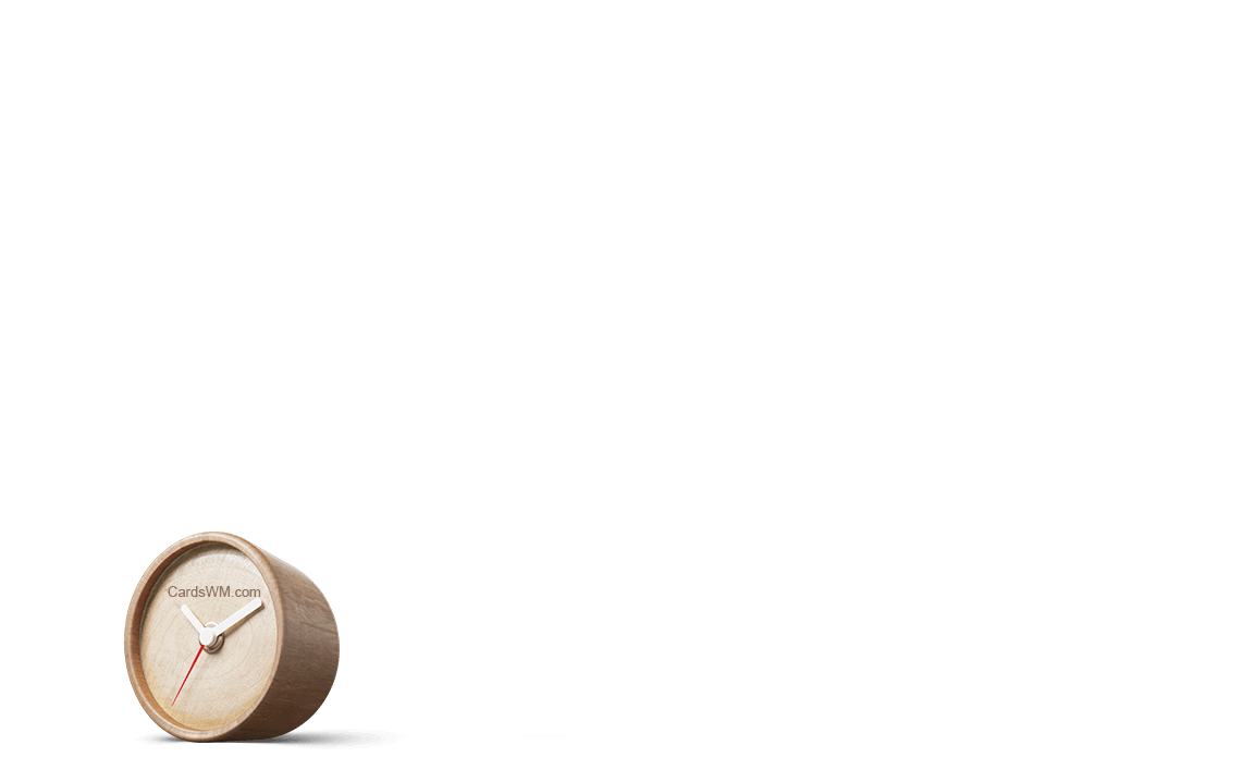 Часы с логотипом CardsWM
